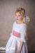 Vestido  plumeti Oliva (2-14 Años). Blanco-rosa