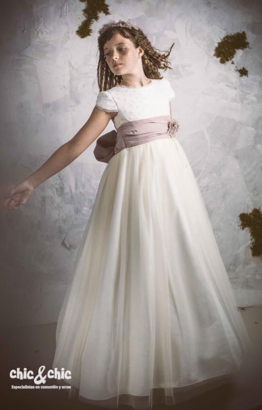 Vestido de comunión VERONA. Fajín Personalizable