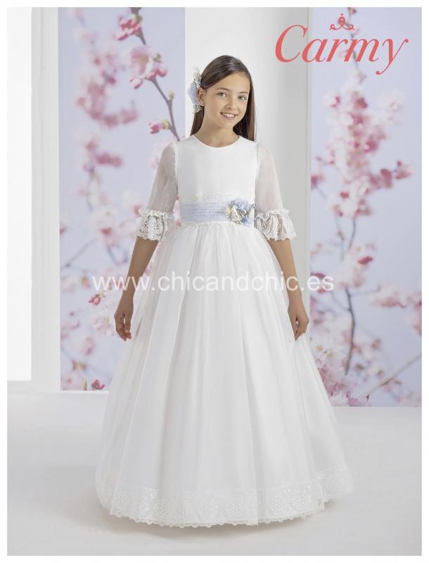 Vestido de comunión 1103. Organza
