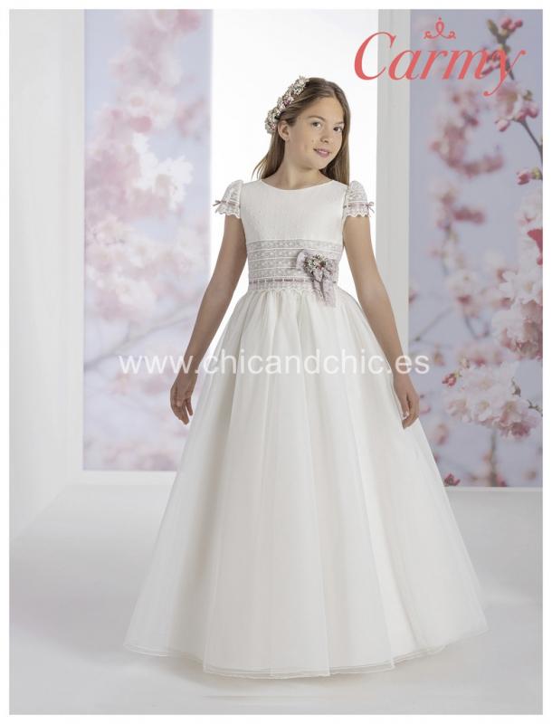 Vestido de comunión 1209. Falda tul
