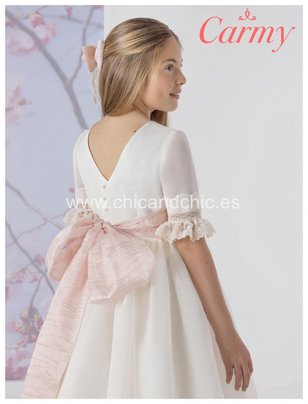 Vestido de comunión 1710 Esterilla rústica.