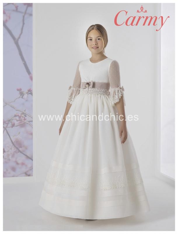 Vestido de comunión 1712 Esterilla rústica.