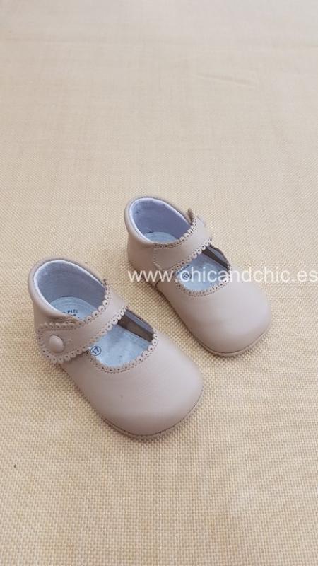Zapato bebe piel camel. Mod. 2240
