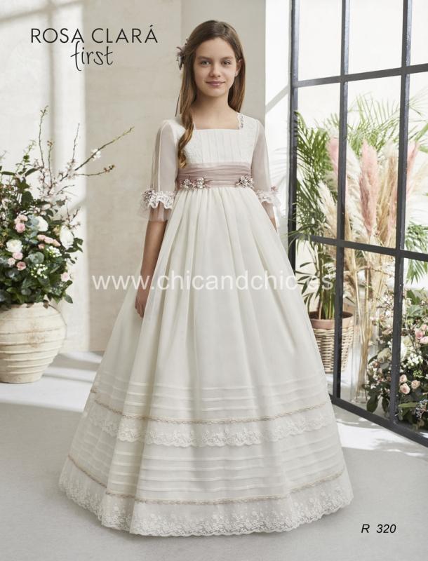Vestido de comunión 320 Rosa Clará.