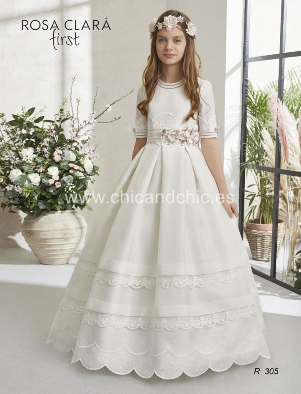 Vestido de comunión 305 Rosa Clará