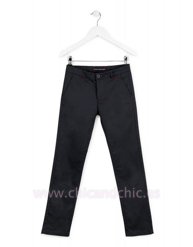 Pantalón gabardina elastano marino