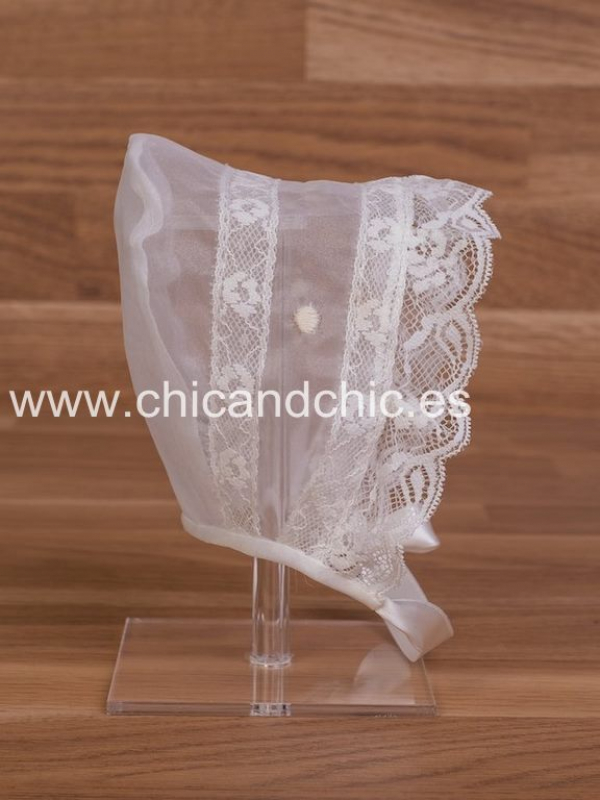 Capota cristal bordado. Color Beige (3m-24m)