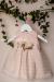 Vestido bebe en organza rayada rosa. 5442800