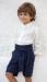 Traje niño arras en lino 311599. Crudo-marino