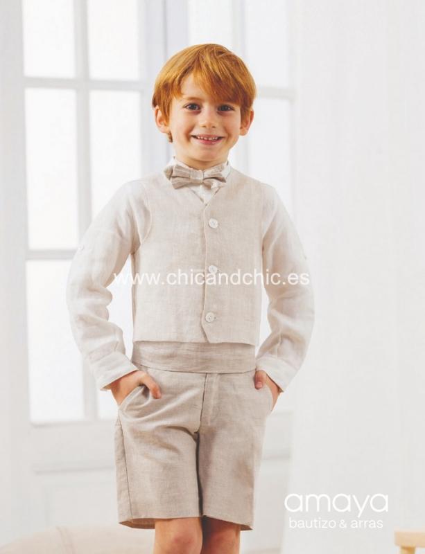 Conjunto de niño Pantalón corto 533280T.(1-12 Años) Tostado/marino/Rojo/Crudo/Caqui/Maquillaje/Verde agua/Crrudo-tostado.