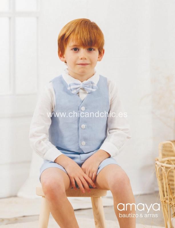 Chaleco 533283CH .(1-12 Años) Azul o Tostado