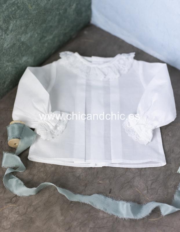 Blusa vestir bebe  blanco.