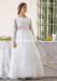 Vestido de comunión 557007ML. Blanco roto-Rosa.