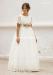 Vestido de comunión 557024MD. Blanco roto-tostado.