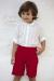 Conjunto de niño 311597 en crudo-rojo. (Tallas 1-12 Años)