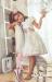 Vestido  Amapola crudo-rosa (1-12 Años)