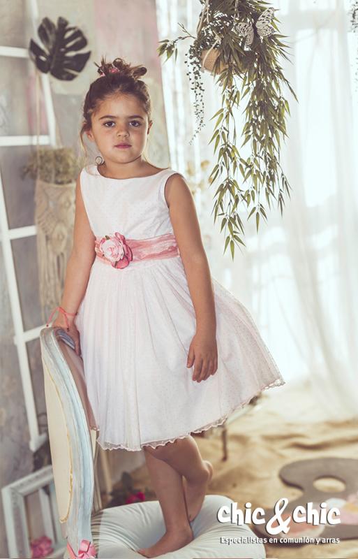 Vestido de tul Aloe Rosa (1-10 Años)