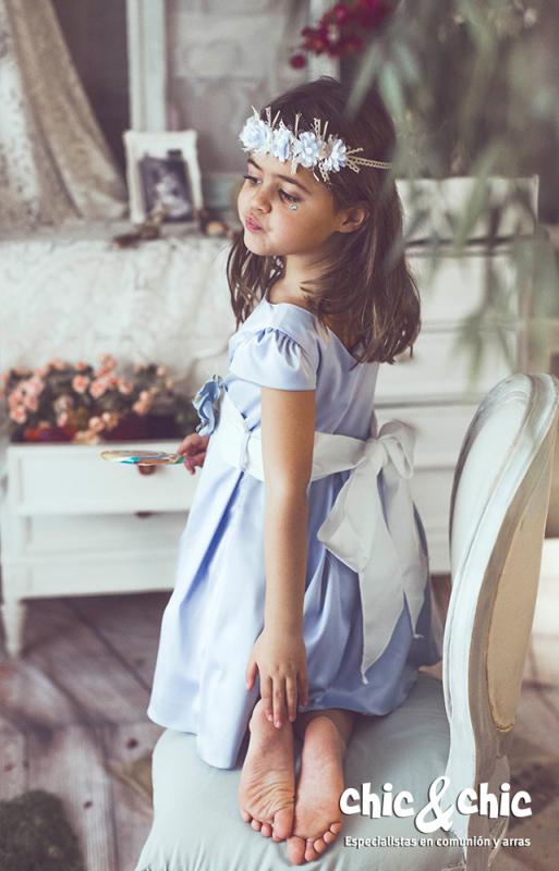 Vestido  Alegría azul. (1-12 Años)