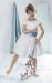 Vestido  Alegría crudo-azul. (1-14 Años)