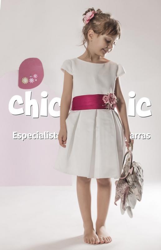 Vestido  Alegría crudo-fucsia. (1-14 Años)