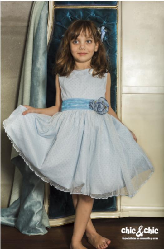 Vestido de tul Aloe Azul (1-10 Años)