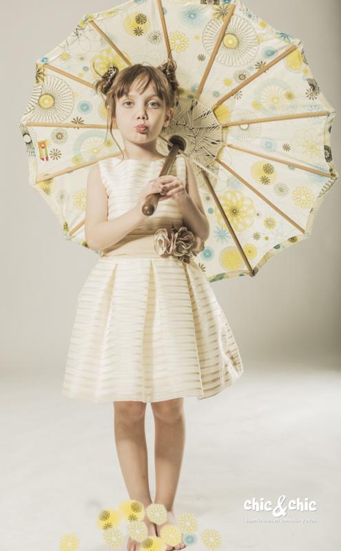 Vestido  Alhelí Beige (2-16 Años)