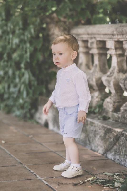 Conjunto niño. Blanco y celeste (6m-24m)