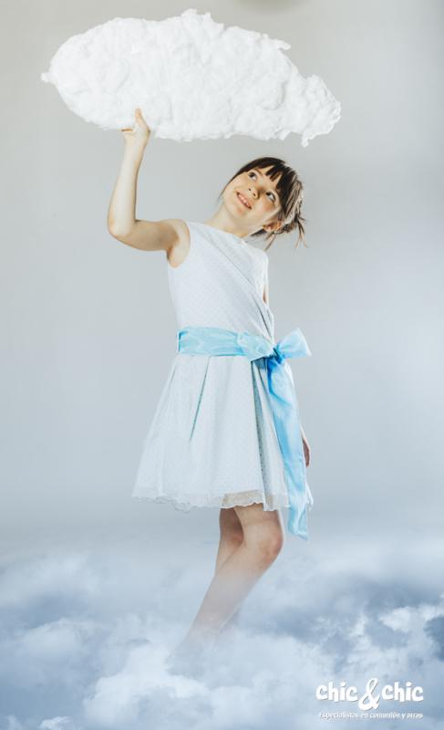 Vestido de tul Azucena Azul (8-16 Años)