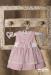 Vestido de bautizo  en tul. Color rosa (3m-24m)