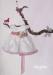 Vestido amapola bebe  en organza.Crudo-rosa (3m-24m).