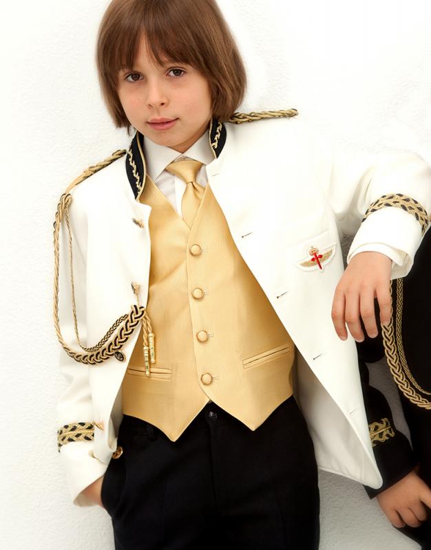 Chaleco y corbata Oro de  Almirante 01-14 2-1