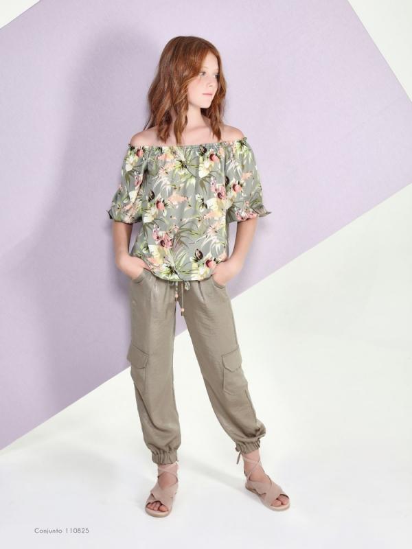 Conjunto pantalón largo color Kaqui. (10-18 años)