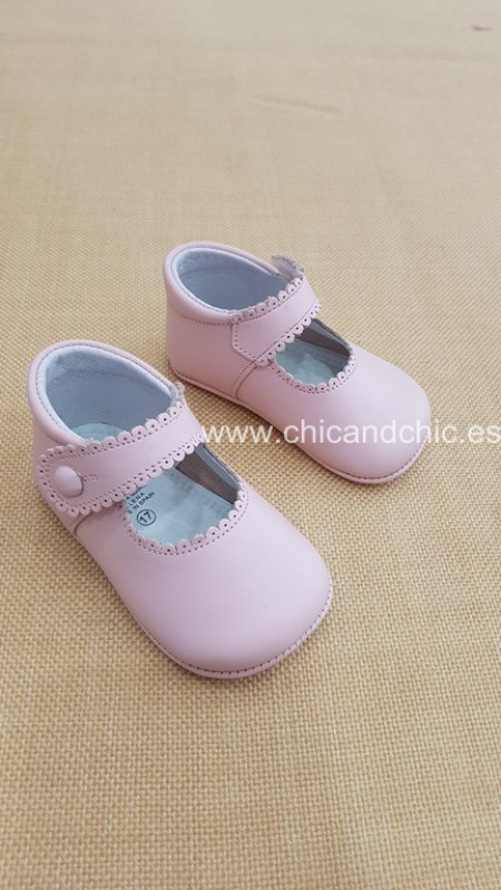 Zapato bebe napa rosa. Mod. 2240