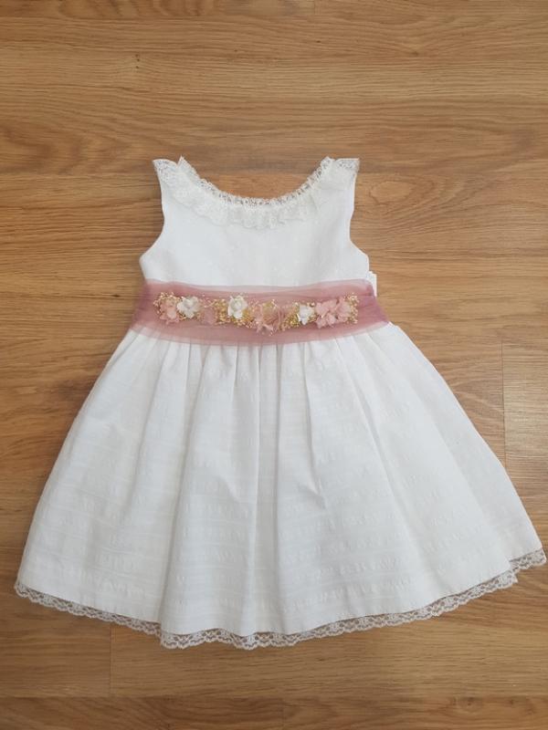Vestido 1103000 Crudo-rosa (4-10 Años)