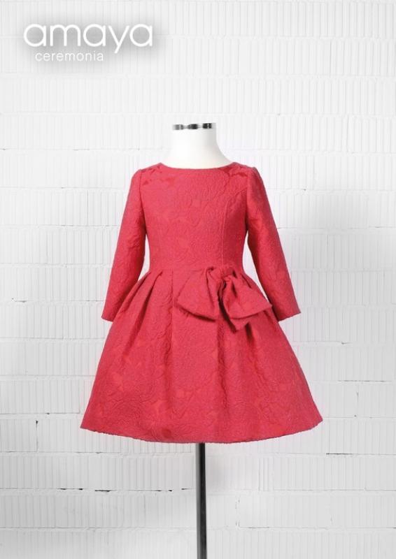 Vestido ceremonia rojo. 210965 (10-14 años)