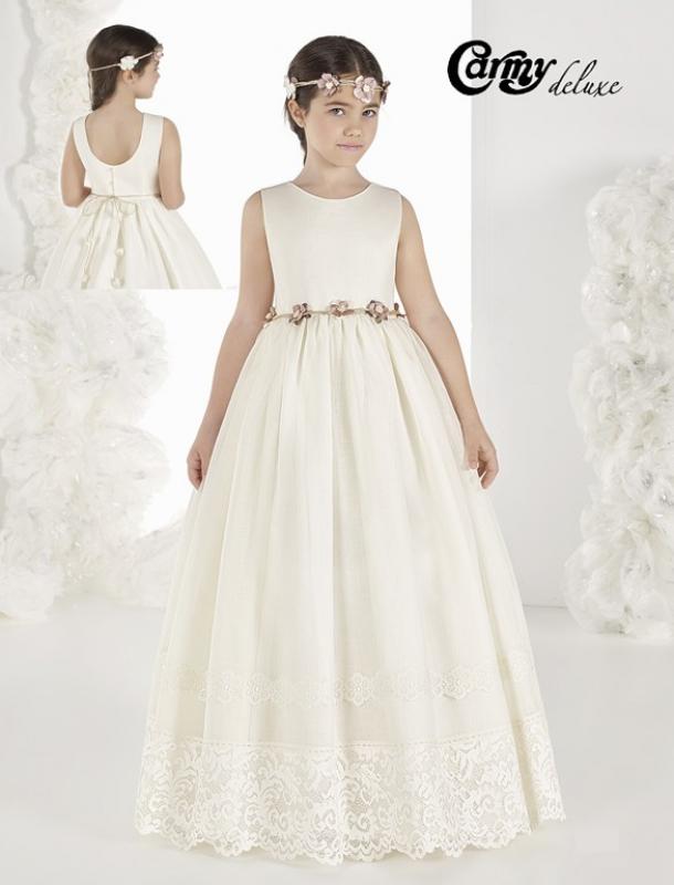 Vestido de comunión DL-914. Esterilla rústica.