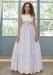 Vestido de comunión 311921SM Amaya. Color Azul. Última talla 10.